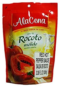 AlaCena Salsa de Rocoto Molido Red Hot Pepper Sauce 100 ML.