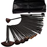 Kisstyle Roll up Makeup Brush Cosmetic Set Kit with Case