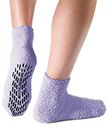 Non Skid / Anti Slip Grip Socks For Women / Mens Non Slip Grip Socks - Hospital - Lavender One Size