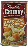 Campbell's Chunky Classic Chicken Noodle Soup, 18.6 Ounce Cans (Pack of 12)