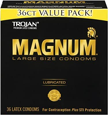 Trojan Condom Magnum Lubricated, 144 Count Pack (dfw4fh)