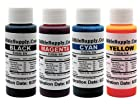 Edible Supply 4 oz BK/C/M/Y Edible Ink Refill Bottle Combo for All Epson Printer