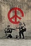 Banksy Peace Art Graffiti Artist poster 36 inch x 24 inch / 20 inch x 13 inch
