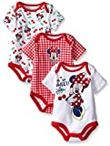 Disney Baby Girls Minnie Mouse 3 Pack Bodysuits