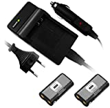 2 x Battery + Battery Charger for RCR-V3 CR-V3 CRV3 CR-V3P