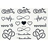 SPESTYLE waterproof non toxic long last temporary tattoos stickers