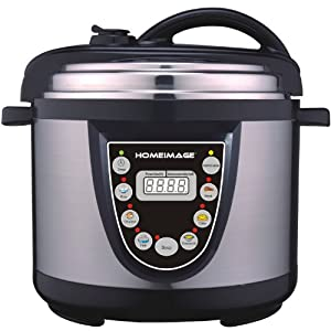 HOMEIMAGE 6 Quarts Stainless Steel Multi-purpose Electric Pressure Cooker