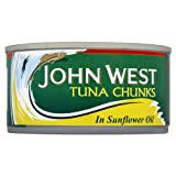John West Tuna Chunks In Sunflower Oil 10x155g Cans