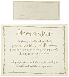 Lillian Rose Message in a Bottle Guest Signing Papers, 3.75-Inch by 1.5-Inch, Set of 36 by Lillian Rose