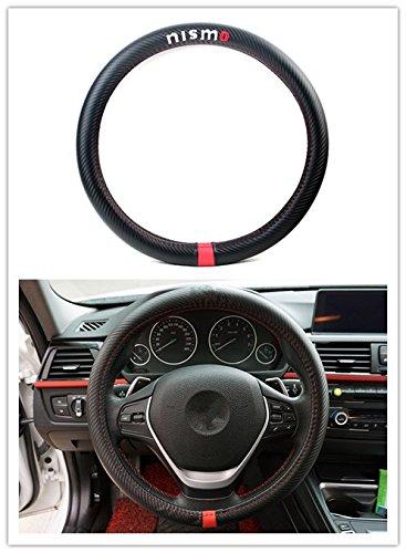 1Pcs Automotive Steering Wheel Cover Black Carbon Fiber Leather Strip Nismo Car For GT-R 350Z 370Z Altima Cube Leaf Note NP300 Quest (Nissan Leaf Wheel compare prices)