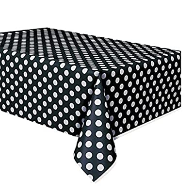 Unique Industries, Inc. - Red and White Dots Plastic Tablecover