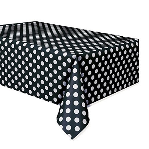 Plastic Polka Dot Table Cover, 54