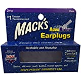 Mack's AquaBlock Earplugs - Purple (2 pair)