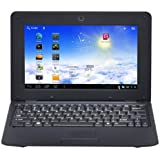 Moonar 10 inch Netbook Notebook Laptop OS DDR3 512M Wifi With Front Camera (Black)