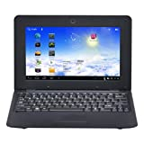 10 inch Android On Netbook Notebook Laptop Android 4.0 OS DDR3 512M Wifi With Front Camera (Black)