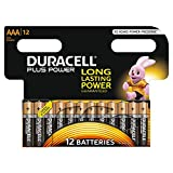 Duracell Plus Power Typ AAA Alkaline Batterien, 12er Pack