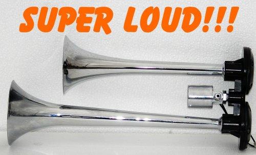Super Loud Dual Trumpet Train Truck Air Horn 140db-NEW