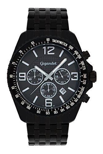 Gigandet FAST TRACK Orologio Uomo Cronografo Analogico Quarzo Nero Grigio G12-005