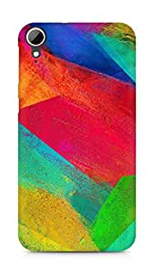 Amez designer printed 3d premium high quality back case cover for HTC Desire 828 (Pattern Colourful)