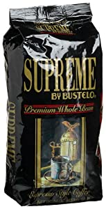 Supreme by Bustelo Premiun Whole Bean, Espresso, 16-Ounce Bags (Pack of 2)