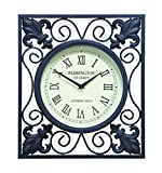 Deco 79 35415 Metal Outdoor Wall Clock, 14 by 16-Inch