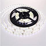 Triangle Bulbs 3528-IP65-White-60L Pure White LED Strip Light, Waterproof LED Flexible Light Strip 12V with 300 SMD LED