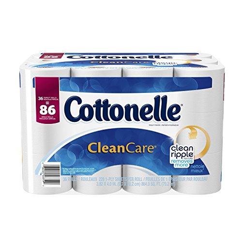Cottonelle CleanCare Family Roll Toilet Paper Bath Tissue,