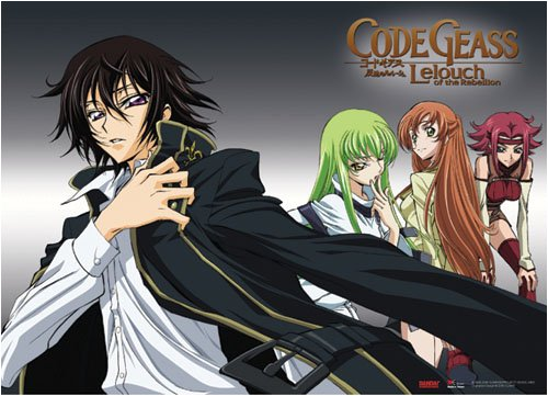 Code Geass: Lelouch, CC, Shirley, and Kallen Anime Wall Scroll