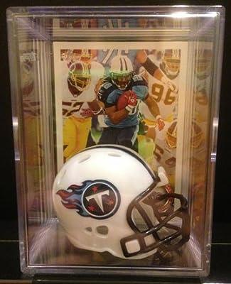 Tennessee Titans NFL Helmet Shadowbox w/ Chris Johnson card