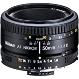 Nikon AF FX NIKKOR 50mm f/1.8D Lens with Auto Focus for Nikon DSLR Cameras cover image