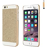 32nd® Glitter sparkle hard case cover for Apple iPhone 6 (4.7 inch), including screen protector, cleaning cloth and touch stylus - Gold