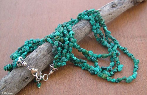 Turquoise necklace, 'Natural Wonders'