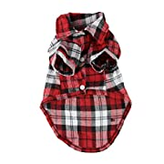 CXB1983(TM)Cute Pet Dog Puppy Clothes Shirt Size XS/S/M/L Blue Red Color (M, Red)