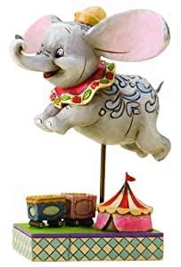 Disney Traditions by Jim Shore 4010028 Dumbo Personality Pose Figurine 4-1/2-Inch