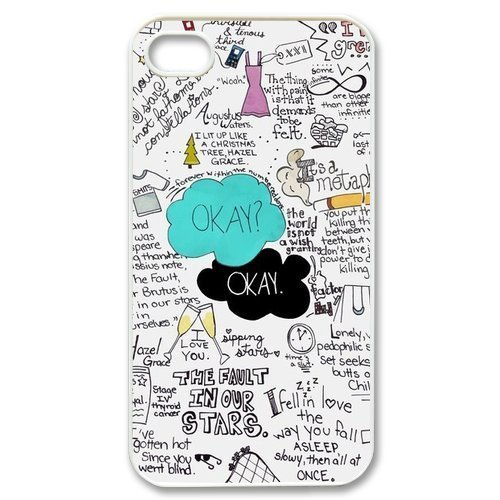 First Design Custom Funny The Fault In Our Stars Iphone 4/4S Best Durable Case (4S Case)