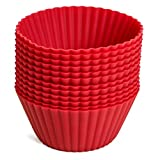 Silicone Baking Cup Liners - 12 Reuseable Non-Stick Baking Cups - Contains NO BPA