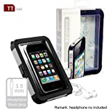 TTsims - Ultimate Hard Protection 10M Waterproof Case for iPhone 4S with 3.5mm Headphone Jack (also fits iPhone 4 / 3G / 3GS / iPod Touch)