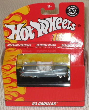 Hot Wheels '53 CADILLAC 100% Collectable Die Cast Car 40th Anniversary
