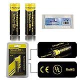 Bundle: 2Packs Nitecore NL147 14500 Li-ion Rechargeable Battery 750mAh 3.7V 2.8Wh CE UL ROHS Certification Black (2*NL147 750mAh Battery +1*EASTSHINE Battery Box)