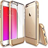 iPhone 6 / 6S Case - Ringke FUSION FRAME **Dual-Layered TPU Bumper and PC ** [FREE Screen Protector][ROYAL GOLD] Drop Protection Clear Back Shock Absorption Protective Bumper for iPhone 6 / 6S- Eco/DIY Package