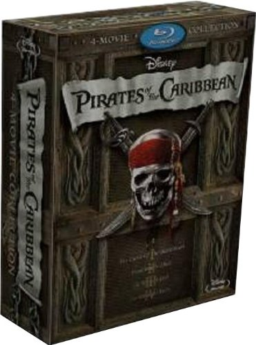 Pirates Of The Caribbean 1 to 4 Blu-Ray Boxed Set Collection (Region A) (Official Hong Kong version) Quadrilogy