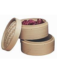 Progressive International 10-Inch Bamboo Steamer Baskets, Set of 2 by Progressive International