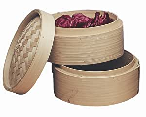Progressive International 10-Inch Bamboo Steamer Baskets, Set of 2