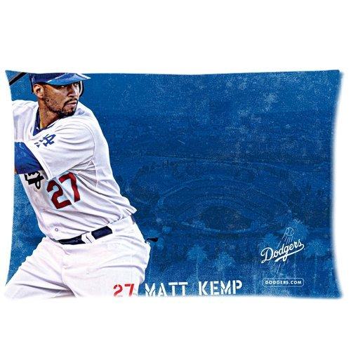 Matt Kemp LA Dodgers Baseball Custom Pillowcase Cover Two Side Picture Size 16x24 Inch at Amazon.com