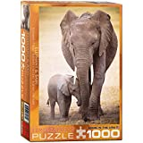 Eurographics Elephant and Baby 1000-Piece Puzzle
