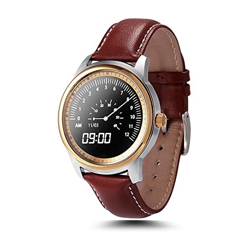 Lemfo LEM1 Bluetooth Smart Watch Full HD IPS Screen Waterproof SmartWatch Fitness Tracker For IOS and Android (Gold)