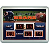 19 NFL Chicago Bears Football Scoreboard Wall Clock with Date and Temperature