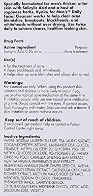 Facial Cleanser For Men By Kyoku For Men Skin Care For Men Face Wash, Kyoku Skin Care Products For Men