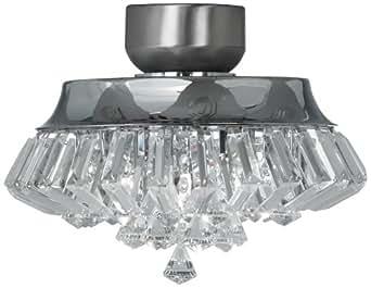 crystal chrome universal ceiling fan light kit ceiling fan light. Black Bedroom Furniture Sets. Home Design Ideas