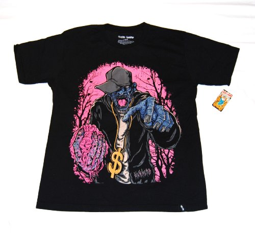 HATE HERO T SHIRT GANGSTA BLACK LARGE